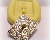 floral faux lock plate silicone push mold / craft/ dessert/ mini food / soap mold/ resin/jewelry and more....
