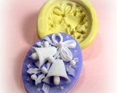 Christmas bells flexible silicone mold / mould