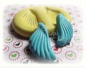 WINGS- flexible silicone push mold / craft/ jewelry/ mini food/ resin/ wax/ buttons/ sculpey and more...