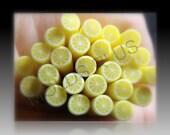 Lemon Polymer clay Cane Kawaii Nail Art / Kawaii miniature food/ Decoden