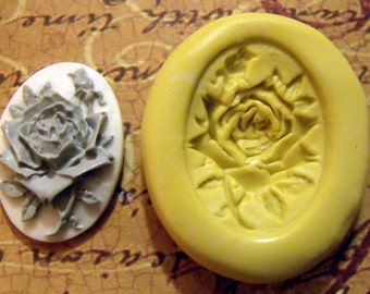 rose cameo- flexible silicone rubber push mold