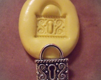 VICTORIAN LOCK-  flexible silicone rubberpush mold / soap mold/ wax/ resin/ mini food/ craft