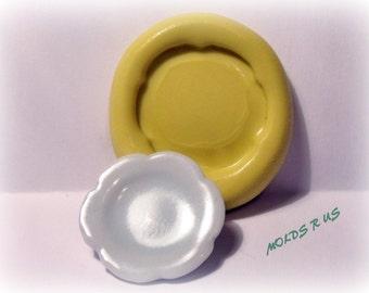 kawaii mini plate- flexible silicone push mold / craft/ dessert/ mini food / soap mold/ resin/jewelry and more...