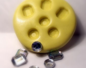 kawaii gem mould/ mold- flexible silicone push mold / craft/ dessert/ mini food / soap mold/ resin/jewelry and more...