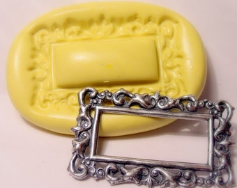 victorian frame mold- flexible silicone push mold / craft/ dessert/ mini food / soap mold/ resin/jewelry and more....
