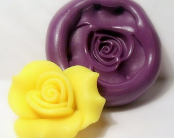 Rose mold- flexible silicone push mold / craft/ dessert/ mini food / soap mold/ resin/jewelry and more..