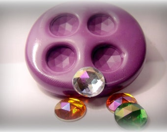 kawaii gems mold- flexible silicone push mold / craft/ dessert/ mini food / soap mold/ resin/jewelry and more..