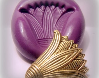 egypt lotus flower mold- flexible silicone push mold / craft/ dessert/ mini food / soap mold/ resin/jewelry and more...