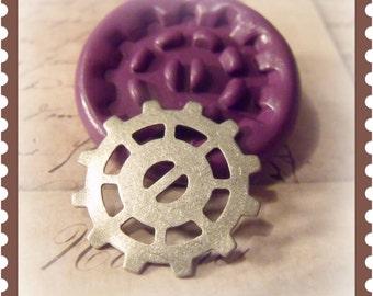 Steampunk Gear flexible silicone mold / mould