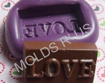 kawaii chocolate love mold- flexible silicone push mold / craft/ dessert/ mini food / soap mold/ resin/jewelry and more.