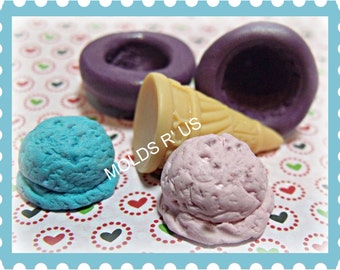 Kawaii Large Ice Cream cone flexible silicone mold / mould