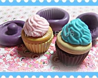 Kawaii Cupcake flexible silicone mold / mould