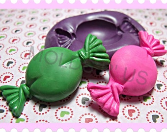 kawaii Wrapped Candy flexible silicone mold / mould