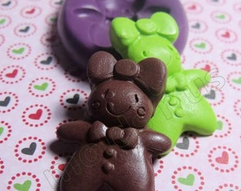 GingerBread Girl cookie flexible silicone mold / mould