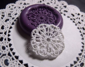 Miniature Doilies dollhouse flexible silicone mold / mould