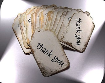 Card Stock Paper Thank You Tags (Made to Order) ( 52mm x 30mm) Gift Tags