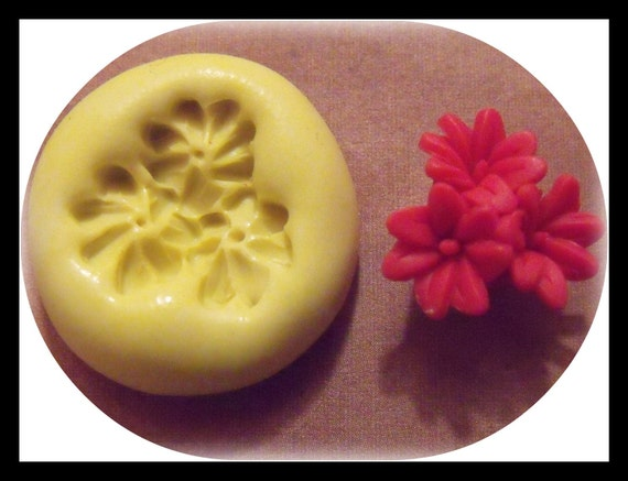 blooming flowers- flexible silicone mold