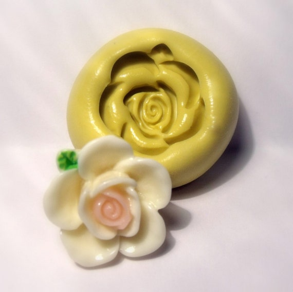 kawaii rose mold- flexible silicone push mold / craft/ dessert/ mini food / soap mold/ resin/jewelry and more..