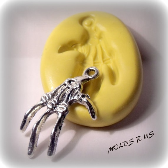 gothic skeleton hand silicone push mold / craft/ dessert/ mini food / soap mold/ resin/jewelry and more.