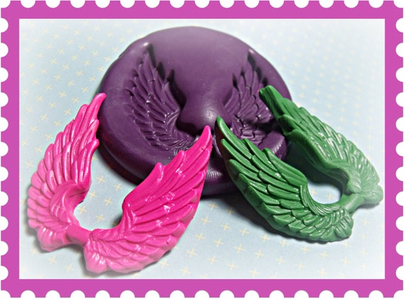 Wings flexible silicone mold / mould