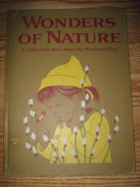 Vintage Wonders of Nature 1958 Reading Altered Art Crafts Scrapbooking BK148