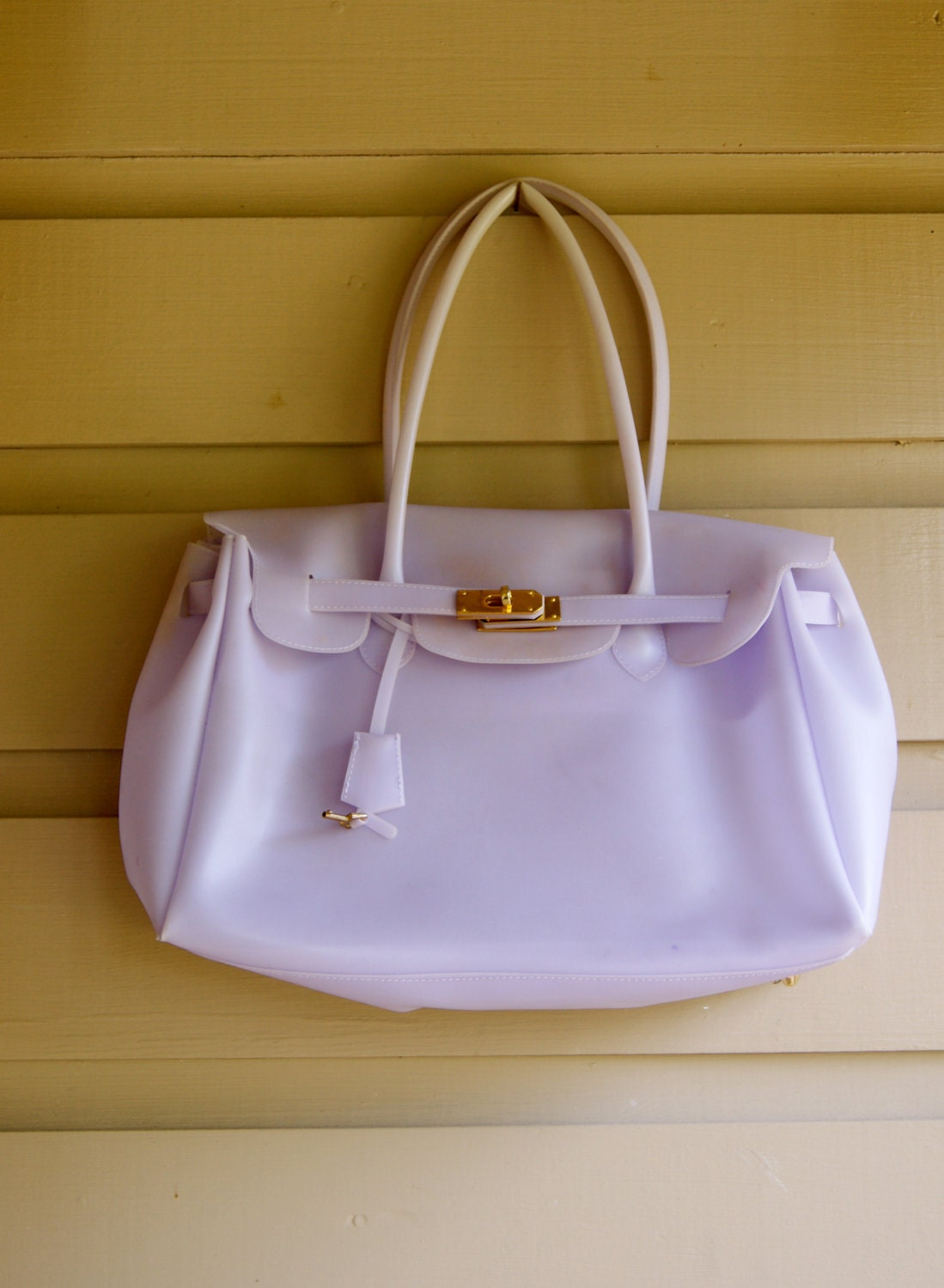 pink hermes birkin bag - JELLY KELLY Bag Lavender Summer Tote by RevivalVintageATX on Etsy