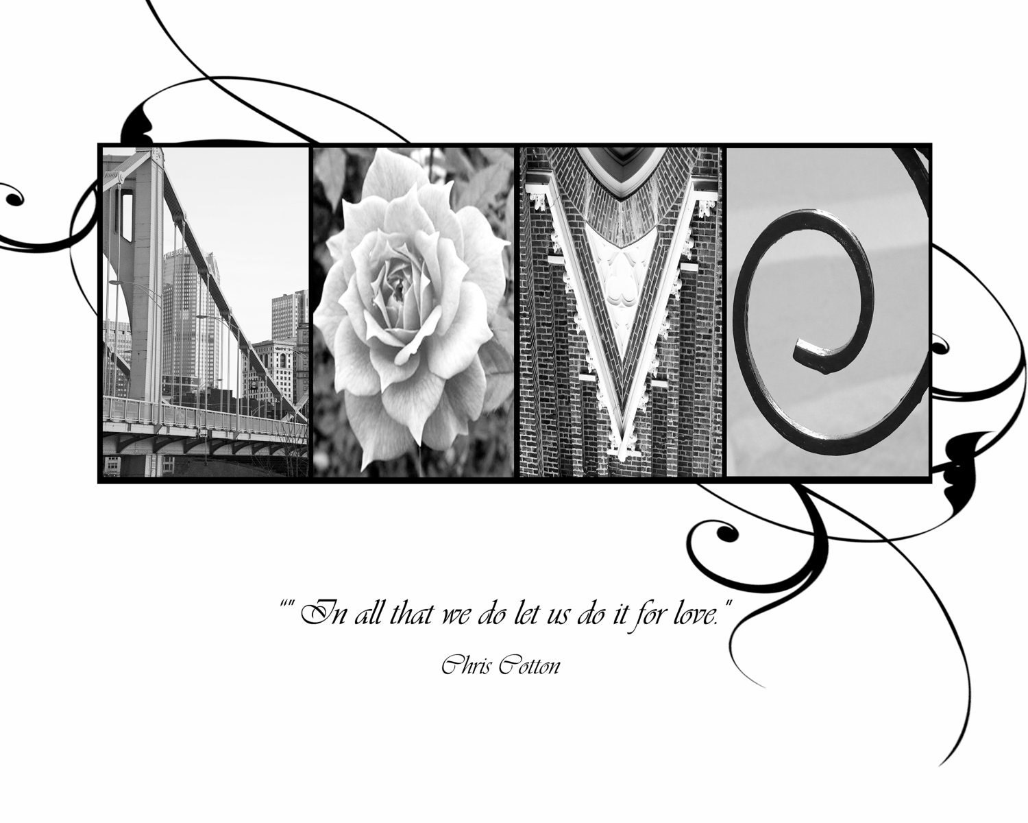 LOVE Photo Letter Art Print Wedding And Anniversary With