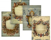 Map Cartouches ATC ACEO Size Backgrounds Digital Collage Sheet Download 190