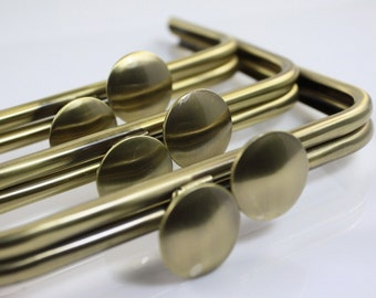 8 inches (21 x 9 cm) - Antique Brass Fungus-bead Large Clutch Purse Frame - 1 piece (LCF-LAR-05)