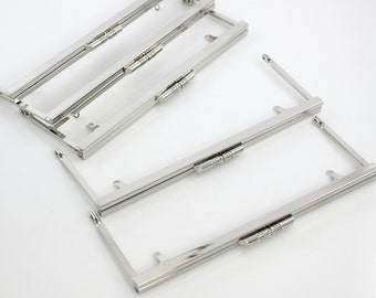 8 x 3 inches Open Channel Metal Purse Frame with Chain Loops - 20 Pieces