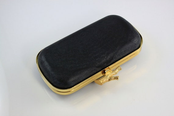 7.5 x 3 3/4 inches - Twig Closure - Oval Shape Dressing Case with Chain Loops - Golden Purse Frame with Covers - 1 piece