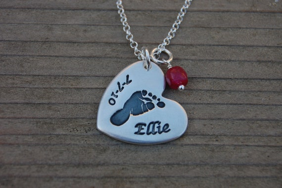 Custom Footprint Necklace - Made From Your Print