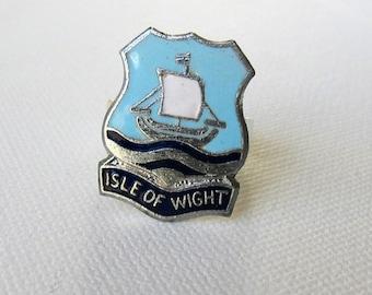 Gothic vintage punk Medieval Isle of Wight heraldic enamel ring