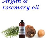 Organic Argan Oil with Rosemary Essential Oil - Excellent Hair Treatment, Hair Mask -1.7 oz  / 50 ml