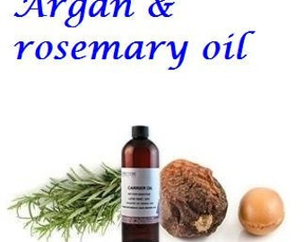 Organic Argan Oil with Rosemary Essential Oil - Excellent Hair Treatment, Hair Mask -1.7 oz  / 50 ml