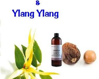 100% Pure Organic Argan oil with Ylang Ylang essential Oil -Skin, Hair, Anti-aging 1.7oz / 50 ml