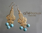 Aflé Bijoux Wedding Collection - Filigrane Earrings - Something blue