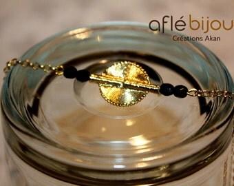 Aflé Bijoux Black Swarovski Bracelet.