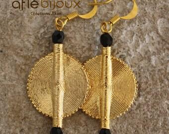 Aflé Bijoux African Earrings: Black Swarovski Earrings
