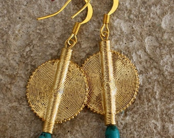 Aflé Bijoux African Earrings: Turquoise Earrings