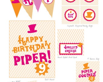 Willy Wonka Birthday Party Printables