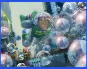 """Buzz Lightyear ( To infinity and beyond the bubbles ) Limited signed 21"""" x 16"""" 4 of 10 print"""