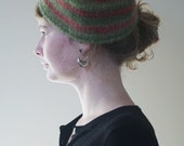 Women's Red & Green Felted Hat