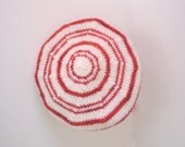 Candy Cane Felted Wool Tam