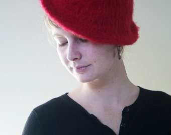 Red Fedora Hand-felted Wool