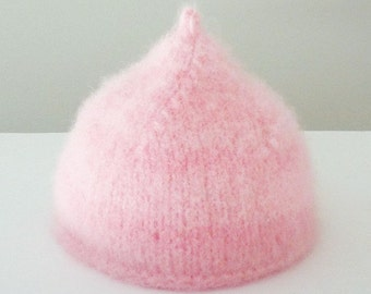 Pink Baby Kisses Wet Felted Wool Hat