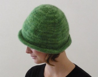 Shamrock Green Felted Wool Bowler