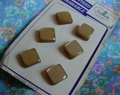 1950s NEVER USED Vintage Genuine Lucite Carmel Square LaMode Buttons Made in USA