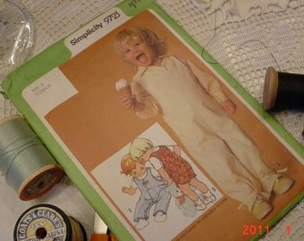 Vintage Toddler Pattern Overalls 1980s Simplicity Pattern Size 3