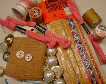 Sewing Craft Supplies EmbroideryThread Buttons